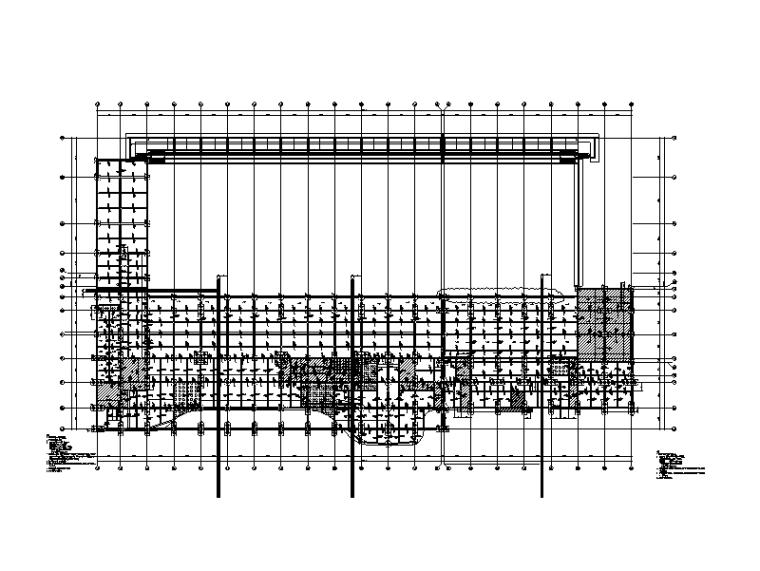 框架结构射击馆结构施工图薄腹工字钢梁屋盖