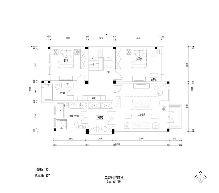 [江苏]南京秣陵街道别墅装饰施工图+实景图