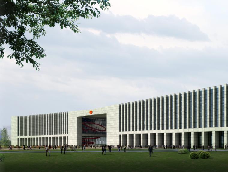 02公众服务市民中心行政中心建筑效果图