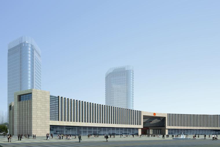 03公众服务市民中心行政中心建筑效果图