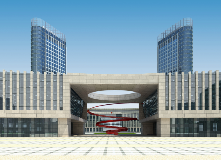 05公众服务市民中心行政中心建筑立面图