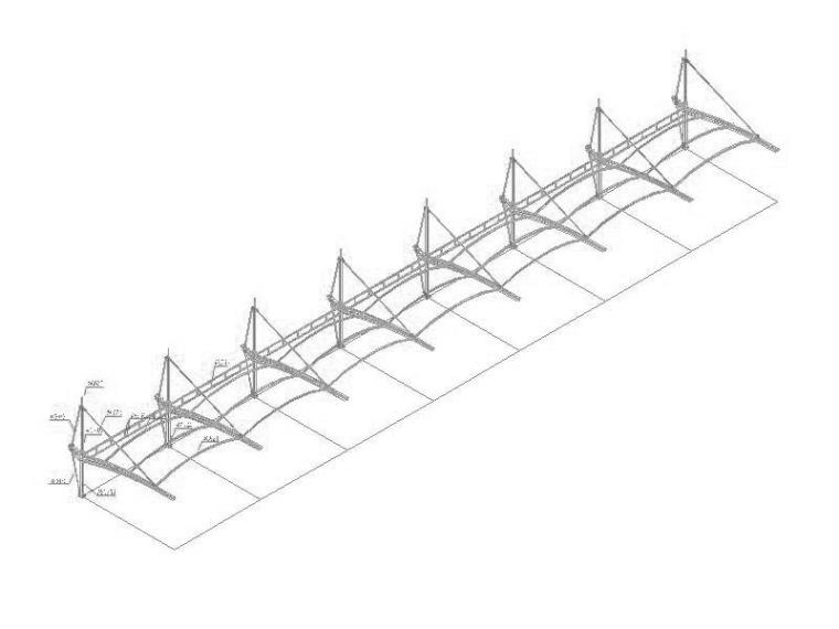 张拉膜结构车棚施工图(2014)
