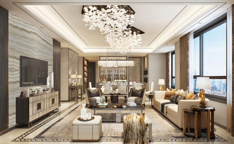 南京·金茂府项目220户型精装修样板间方案图