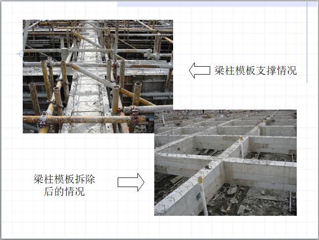 2模板支撑和拆除情况