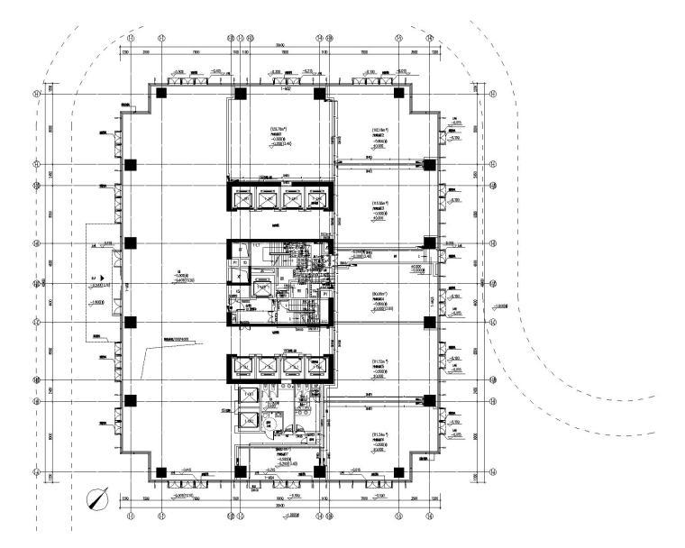 1栋一层给排水、消火栓平面图
