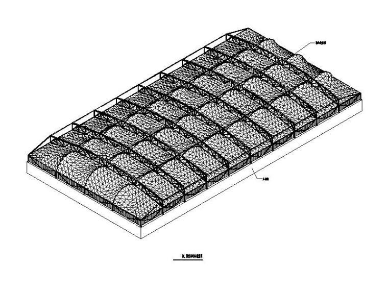 骨架支撑式钢膜结构施工图(鼓风曝汽池)