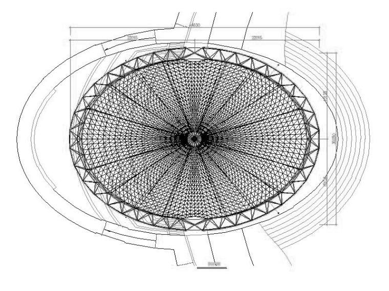 骨架支撑式景观膜结构施工图(2012含基础)