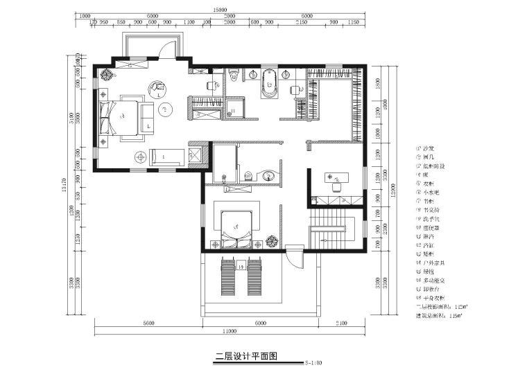 [山东]成象-济南原香溪谷别墅样板间施工图