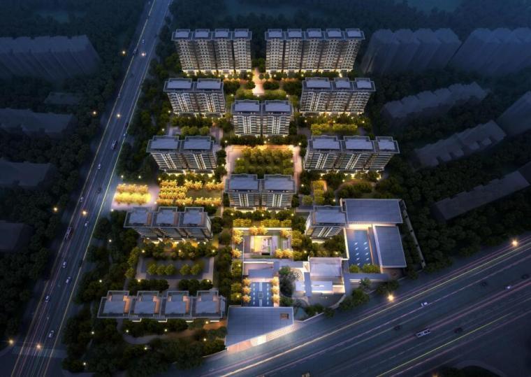 [北京]现代中式轻奢豪宅洋房叠拼住宅方案