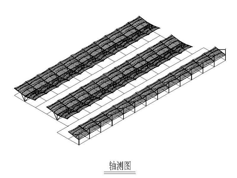 停车棚膜结构方案图2010