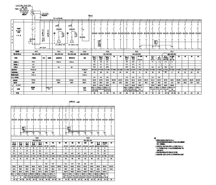 变配电室低压系统图