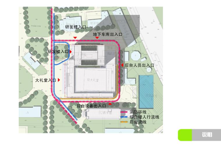 高校高层综合科技教研楼建筑流线分析