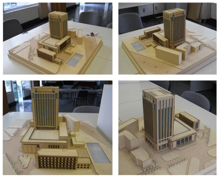 高校高层综合科技教研楼建筑模型图