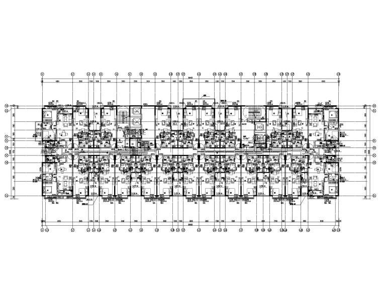 5栋二层给排水、消火栓平面图