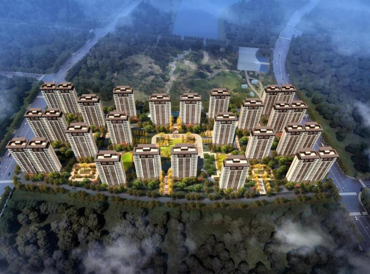 [陕西]新中式风格万达城住宅建筑方案文本