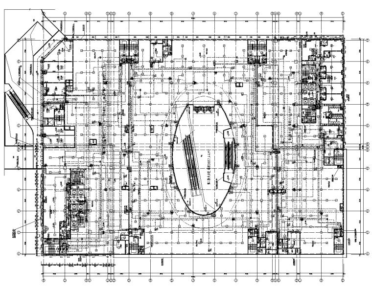 四川达州国际广场商业及办公电气施工图