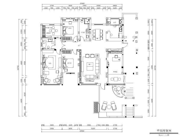 [河北]保定红山庄园新中式样板房施工图