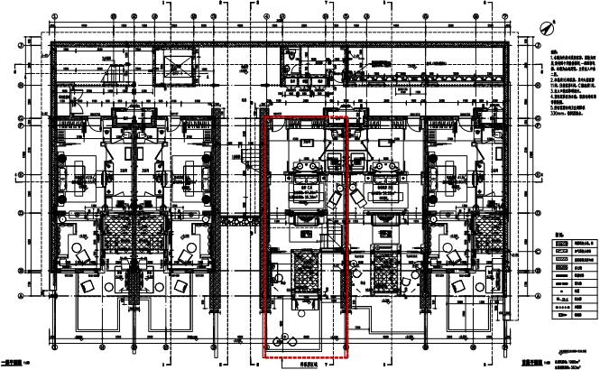 绵阳仙海丽湾度假酒店三套客房样板间施工图