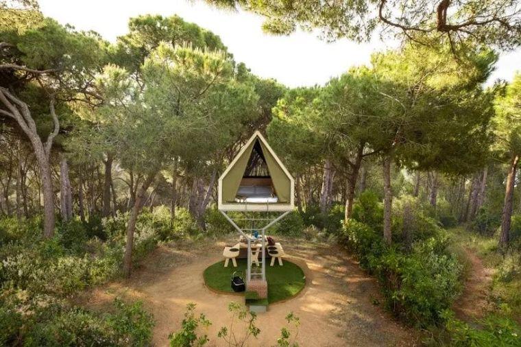 西班牙,巴塞罗那,pinea露营套房