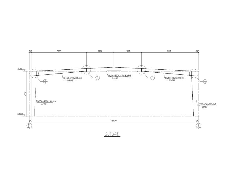 工业项目-门式刚架结构垃圾站结构施工图