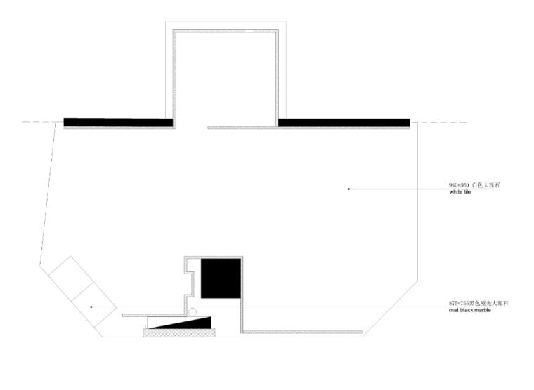 意大利奢侈品手表Panerai北京王府井店地面材料图