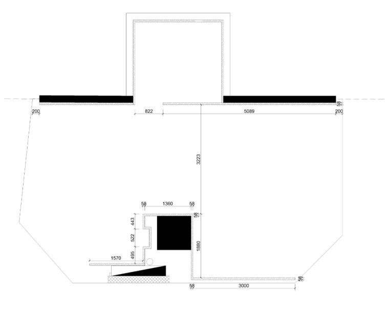 意大利奢侈品手表Panerai北京王府井店新建隔墙尺寸图