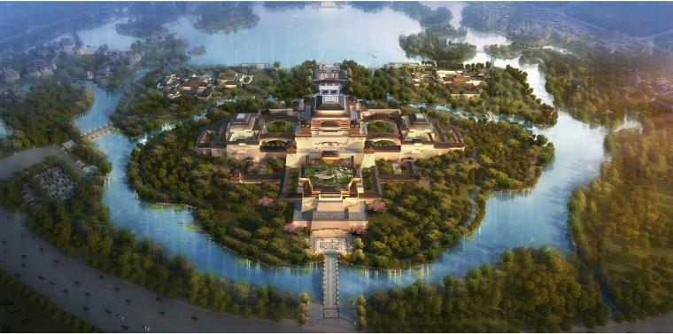 [陕西]HKG-汉中汉文化博览园建筑规划设计