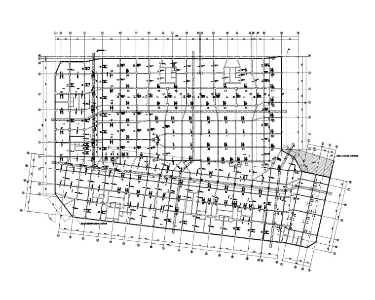 现浇混凝土密肋楼盖地下室结构施工图2019