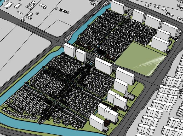[上海]长兴泰禾院子建筑模型设计