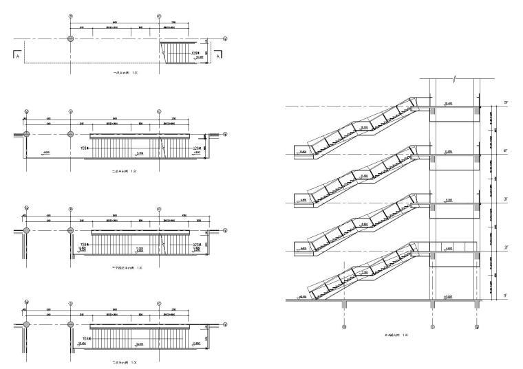 多种类楼梯样式节点详图