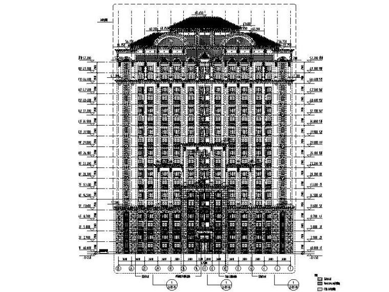 高层住宅楼石材幕墙结构施工图2011
