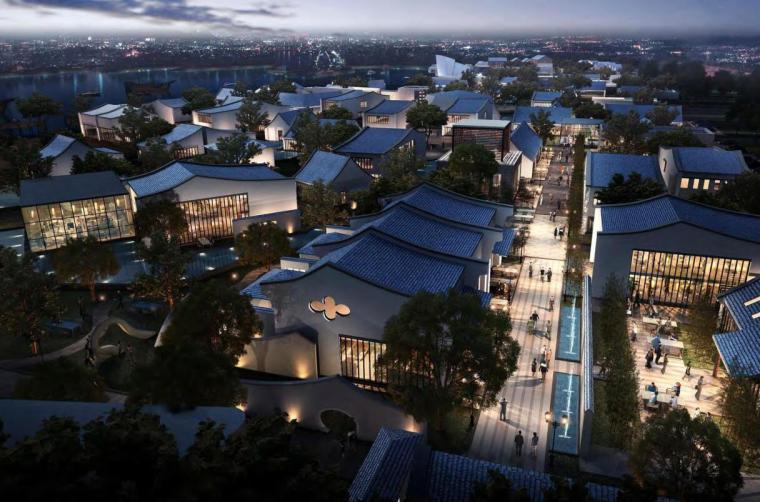 [江西]中式风格小镇高层住宅洋房建筑方案