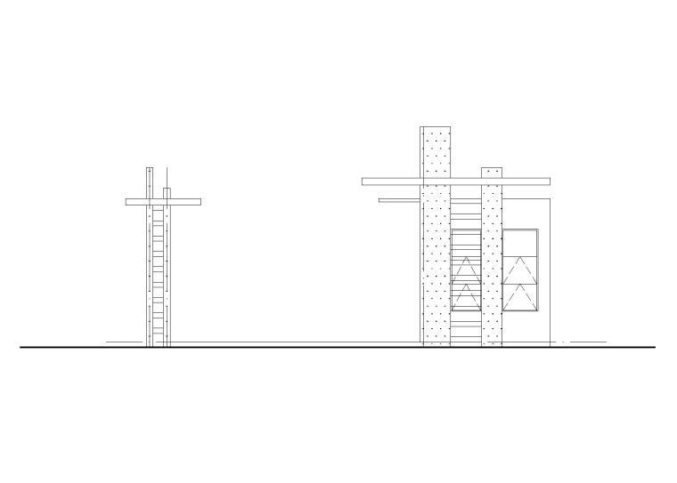 镇第二幼儿园校门建筑施工图(含结构水施)