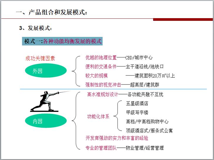各种功能均衡发展的模式