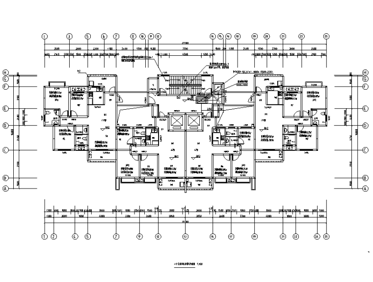 贵州贵阳住宅小区暖通设计施工图