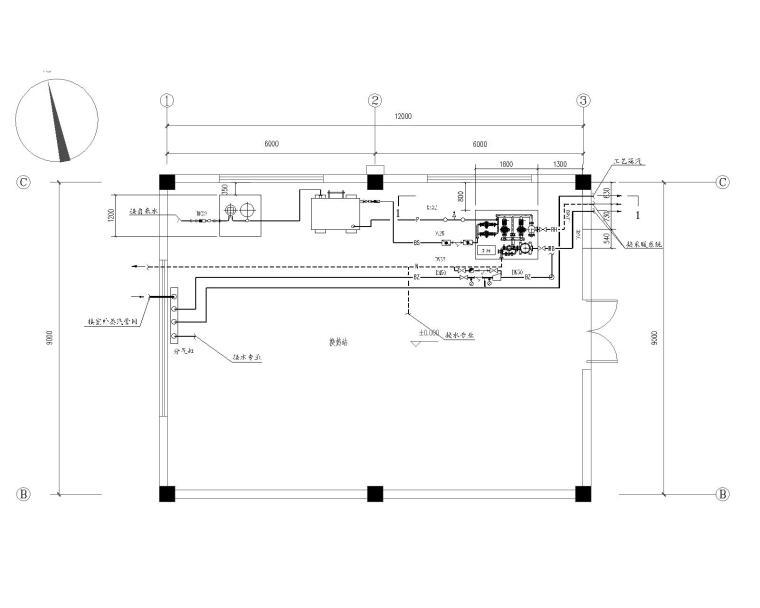 山东平阴苹果示范园项目汽-水换热站施工图