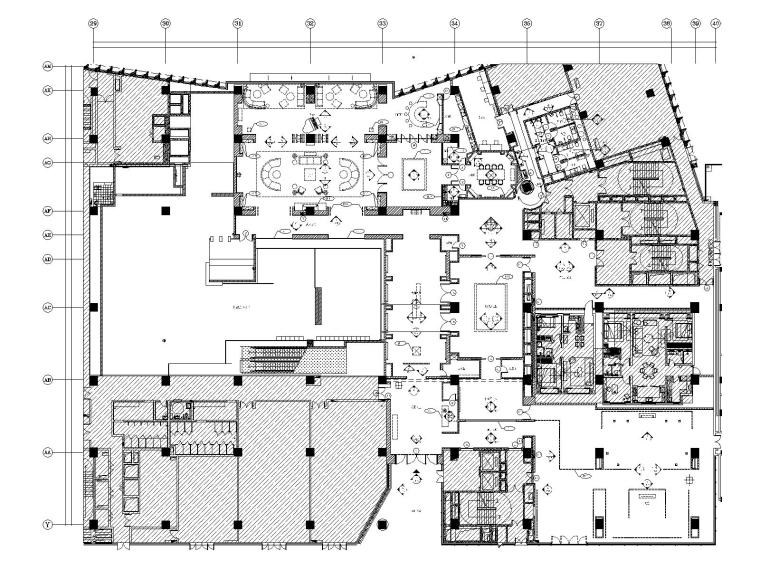 天津万科滨海大都会售楼处会所全套施工图