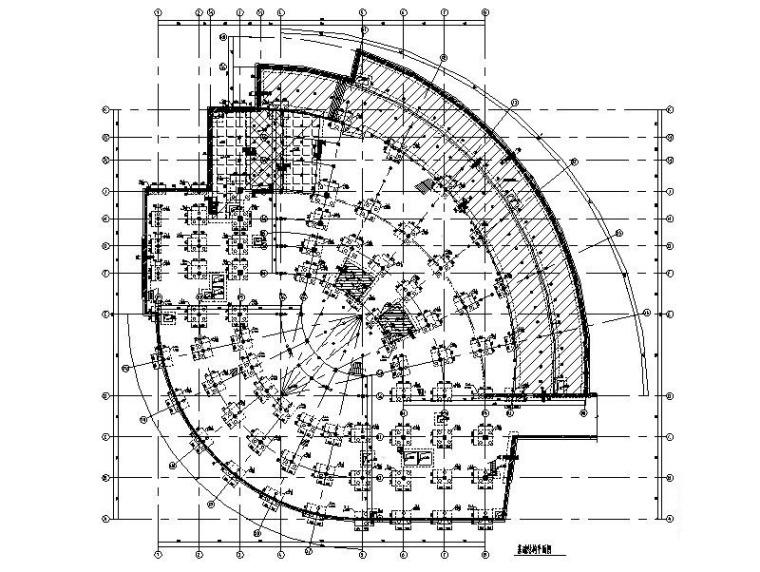 4层框架(型钢柱)+剪力墙图书馆结构施工图