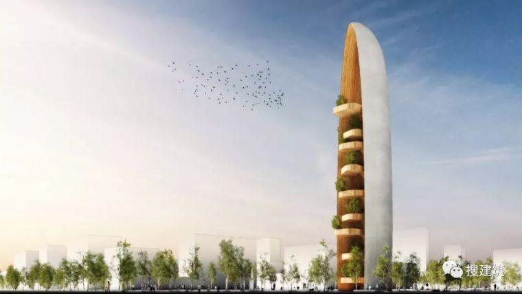 新地标木结构观景塔