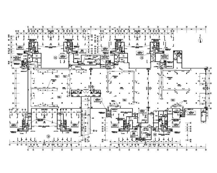 长沙坪塘北片保障性住房小区暖通设计施工图