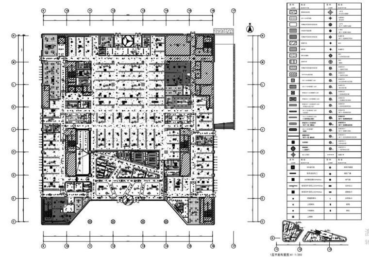 [北京]今日头条中航广场办公室施工图+方案