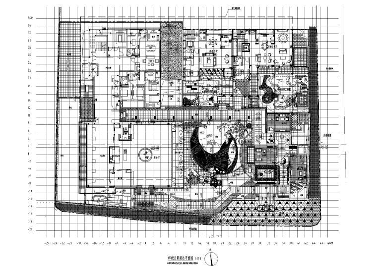 [杭州]绿城某样板区景观竣工图CAD+设计手稿