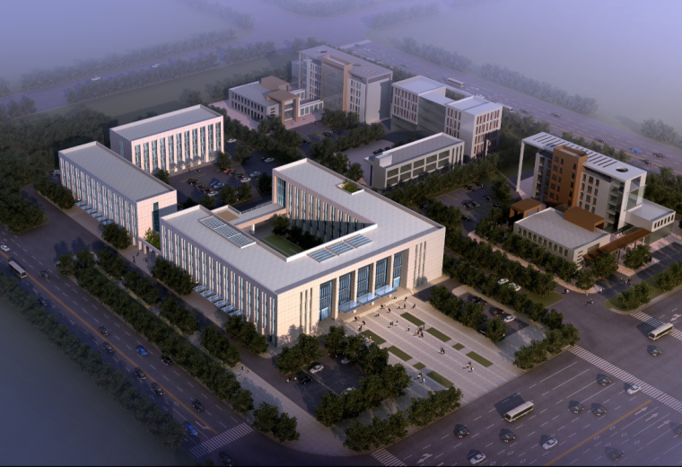 [四川]商务中心建筑组合政务办公建筑方案图