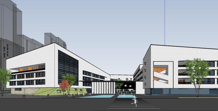 [河南]现代风格学校建筑模型(2019年)
