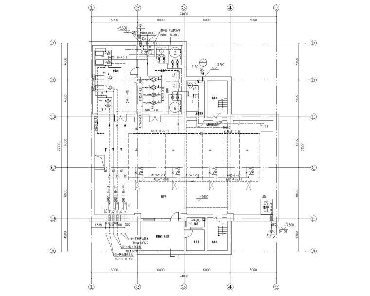 锅炉房工艺管道系统设计施工图