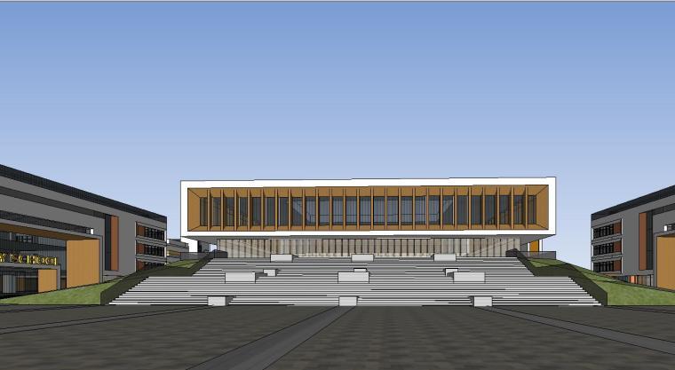 [河北]现代风格高中学校建筑模型设计