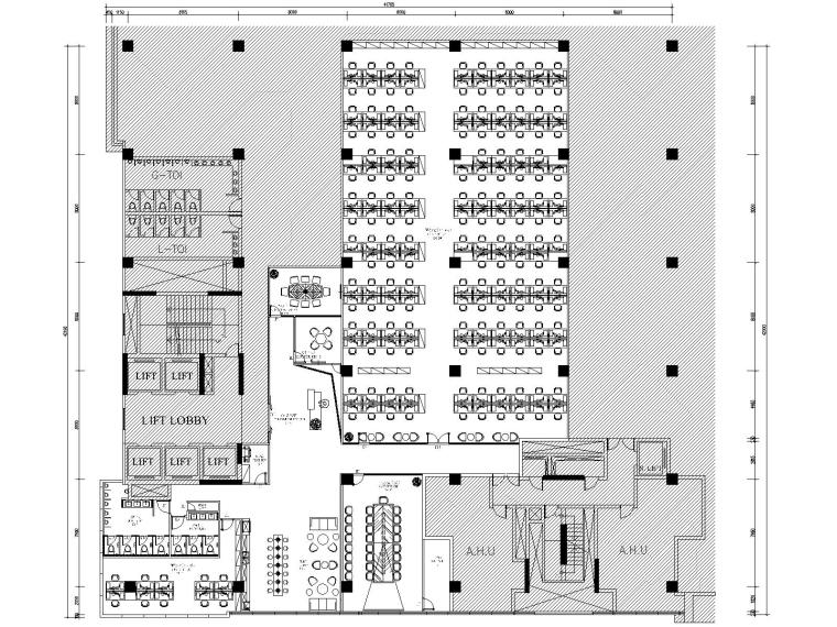 OPPO印度新德里办公总部CAD施工图+设计方案