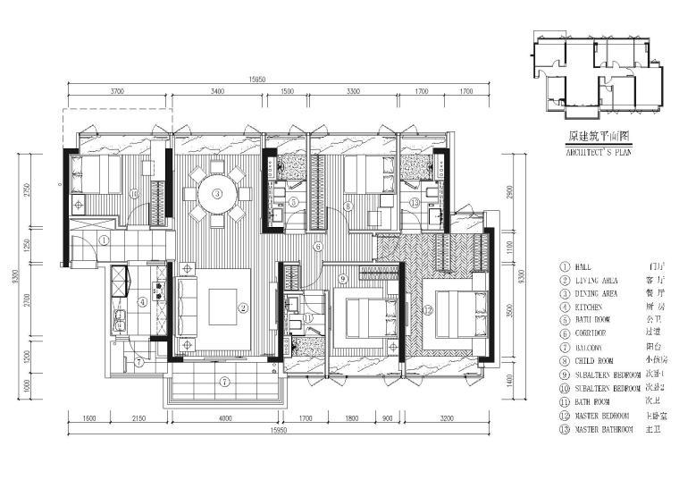 [深圳]DHO-京基长源项目4栋2层A户型图纸