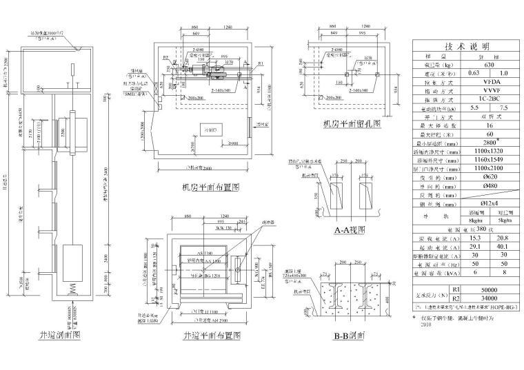 超全电梯·自动扶梯节点大样详图