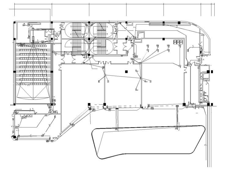 影院及该层电气变更设计图